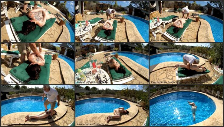 Kaecie needs get the rest but she get the predicament in bondage by the Pool Part 2