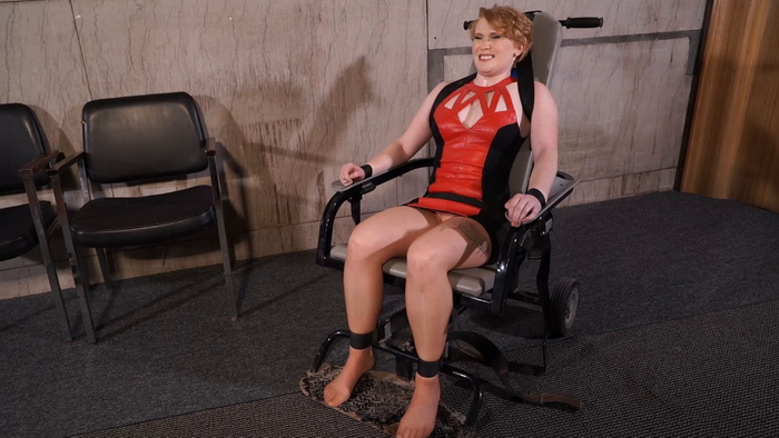 Isabella arrested and chained to a chair