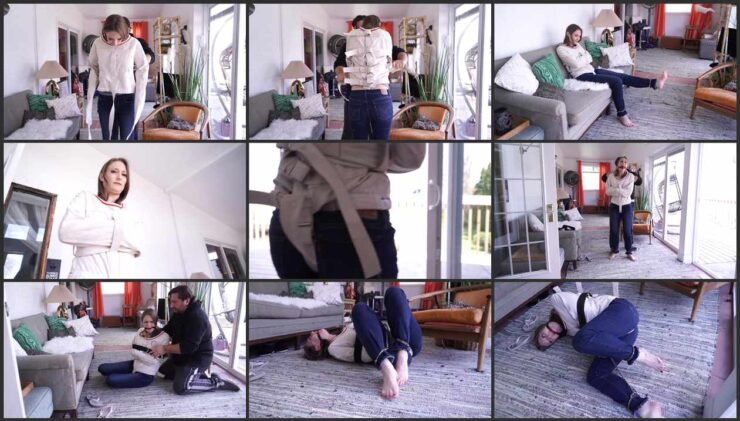 Ophelia punished with metal handcuffs and a straitjacket Part 2