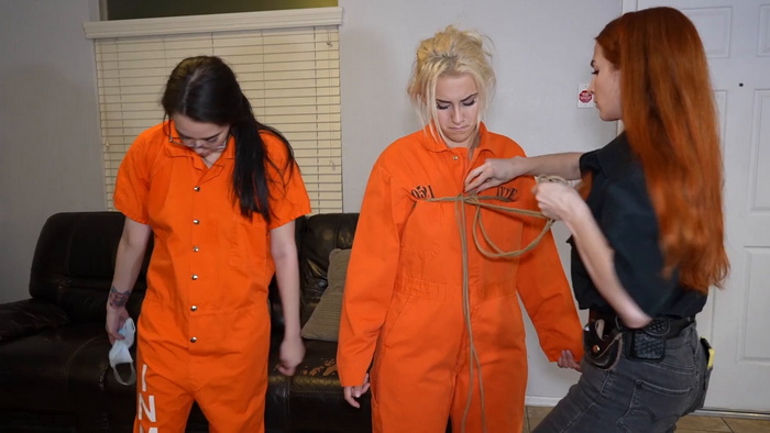 Inmates Amanda and Indica ready for transportation Part 1