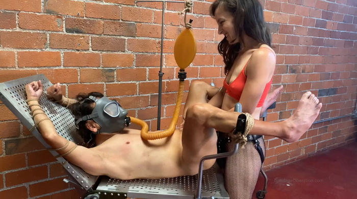 Tied and fucked slave on the new gyno table Part Two