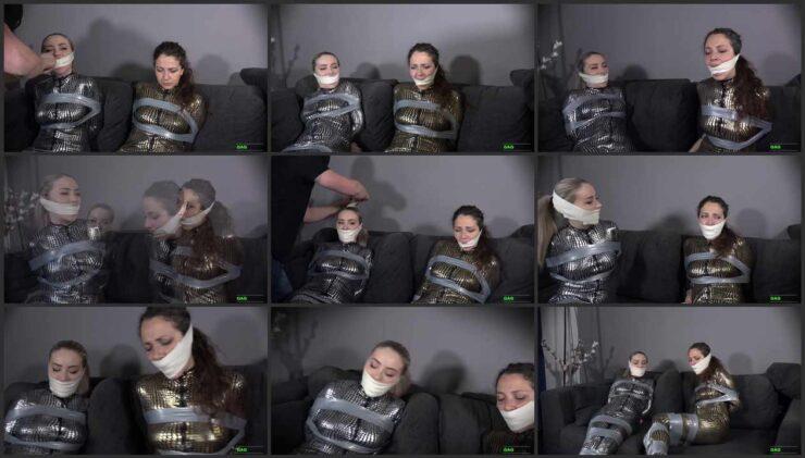 Aubrey & Julia try to communicate gagged 2 Gag Video