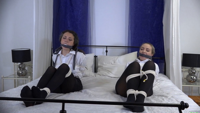 Punished by Boss Waitresses Julia and Aubrey Gagged