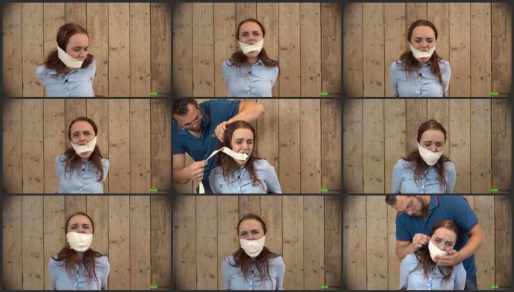 Roxy with tight gag – 2 Gag Video