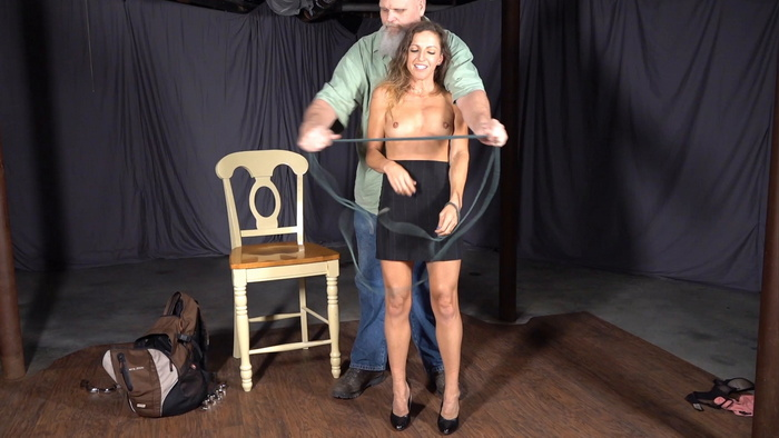 Ivan has fun with rope and Lora in the basement