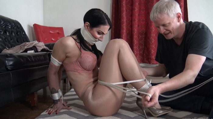 Raven in Mr. Big Boss office entertain executives