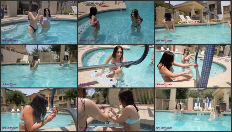 Cuffs and pool – party in the sun