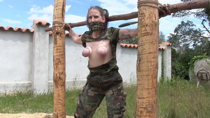 Rija's tiny Tits be hard Punished Outdoor