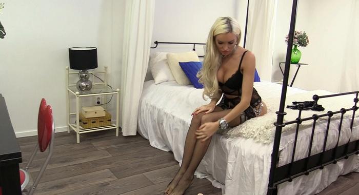 Metal and expensive underwear on dangerous Katia