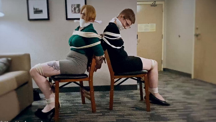 Izzabella and Kitty – Rookie detectives be were caught and bound