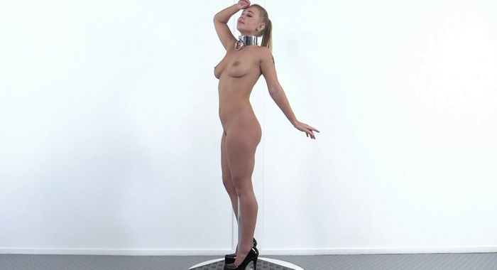 One Bar Prison and inescapable dildo pole for Darina. MB621