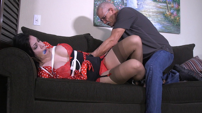 Cassandra is helpless and horny from bondage with gagged. OSB2012