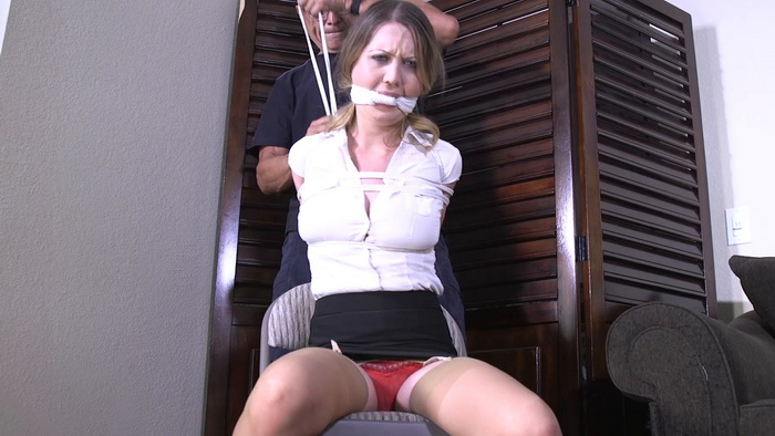 Special punishment for Chrissy with a thick knotted gag tied. OSB2011