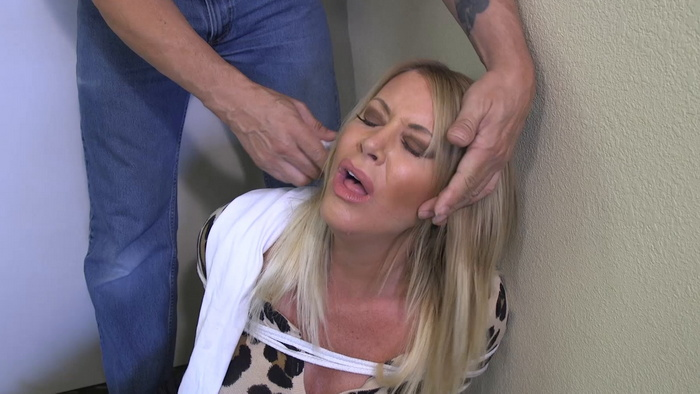 Hostage Jamie bound and gagged in a hotel bathroom