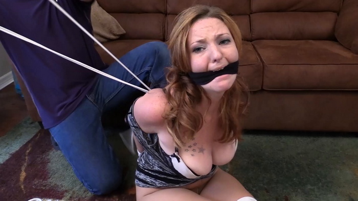 Tucked away tied Lana with gagged