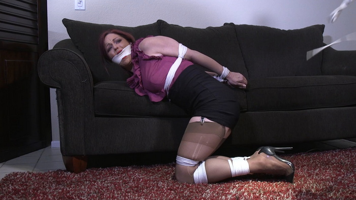 Witness Sarah bound and gagged