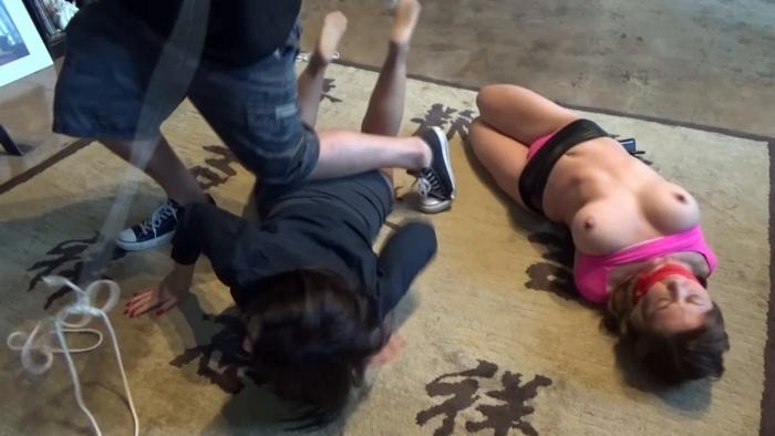 Chrissy and JJ in tight bondage