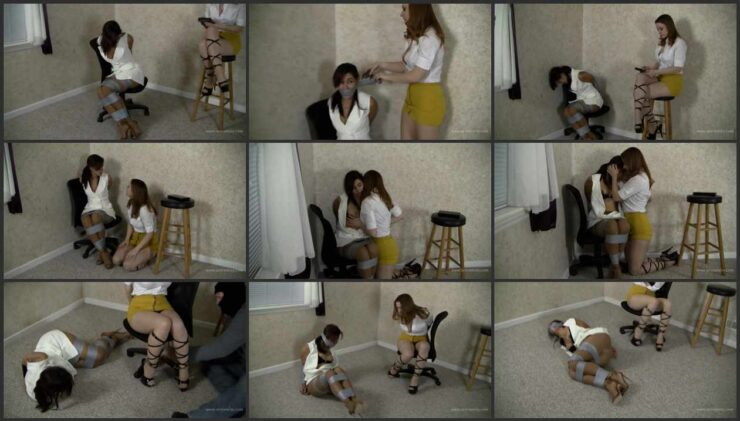 Sahrye and Serene bound, chained and gagged