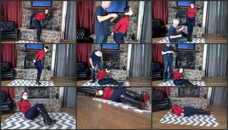 Serene Gagged Immobilized with Zip-tied